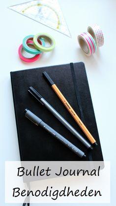 Uitleg en voorbeelden voor Bullet Journal benodigdheden tips voor de aanschaf.