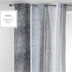 Štýlové závesy v modrej farbe na okno v škandinávskom štýle Stylus, Curtains, Home Decor, Blinds, Decoration Home, Style, Room Decor, Draping, Home Interior Design