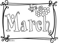 months of the year coloring page march