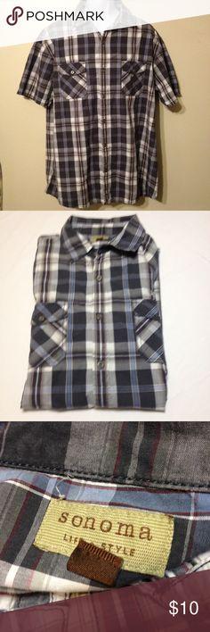 Mens Sonoma shirt Mens Sonoma button down shirt size XL. 100%Cotton. Sonoma Shirts Casual Button Down Shirts