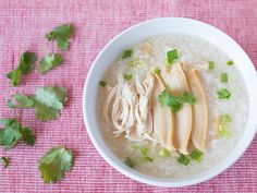 Abalone Chicken Congee 鲍鱼鸡丝粥 Update: This was first posted in Jan 2009, now updated with new photos and improved recipe. Cooking this festive season? Check out: Chinese Lunar New Year Recipes Many Chinese celebrating Chinese New Year will be buying canned abalones during the festive
