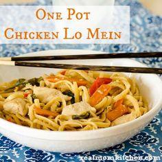 One Pot Chicken Lo Mein   Real Mom Kitchen