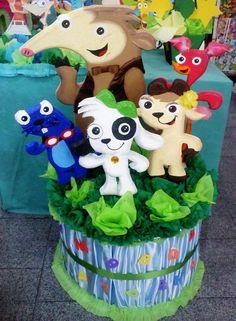 Piñatas Doki Y Sus Amigos Tela Grandes. Piñata-bienvenido
