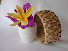 Handwoven Hawaiian Lauhala Bracelet / Elegant / Down to Earth