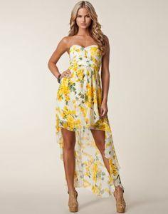 Drop Back Chiffon Dress