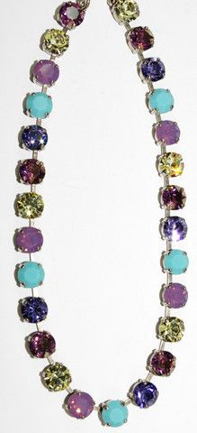 MARIANA NECKLACE HAPPINESS: purple, turq, yellow, lavender stones in s – European Accent