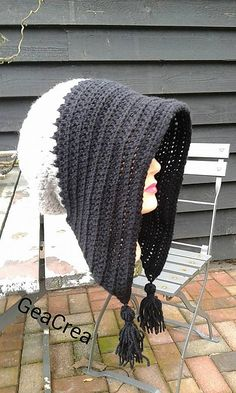 Ravelry: Winter bonnet with tassels pattern by Gea Crea design