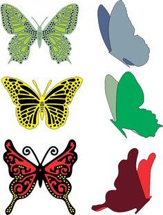 Cheery Lynn Designs - Small Exotic Butterflies