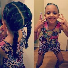 Mixed Hairstyles Custom Mixed Girls Hairstylesflat Twist Into A Side Pony Tail  Cute Kids