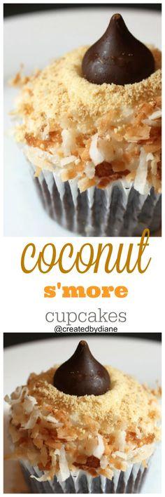 coconut s'more cupcakes @createdbydiane