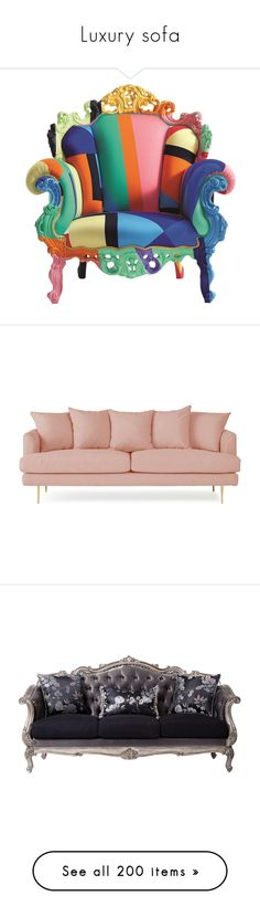 """""""Luxury sofa"""" by saltless ❤ liked on Polyvore featuring home, furniture, chairs, accent chairs, decor, home decor, multicolor, multi color accent chair, cappellini furniture and colorful chairs"""