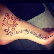 you are my sunshine tattoo - Google Search