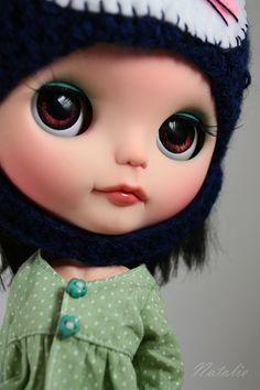 OOAK Custom Art Reroot Blythe doll  Zoya #132 by Natalie-x-blythe  $550.00