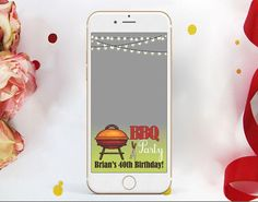 BBQ Snapchat Birthday Geofilter. Barbeque Snapchat. Barbeque Geofilter. BBQ Bash Snapchat Geofilter. Birthday Filter Snapchat Birthday, 40th Birthday, Filter, Bbq, Phone Cases, Handmade Gifts, Kids, Etsy, Barbecue