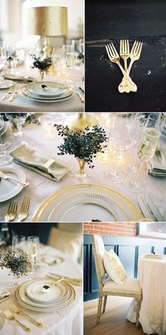 gorgeous gold touches  Design // Lisa Vorce - Photography // Jose Villa