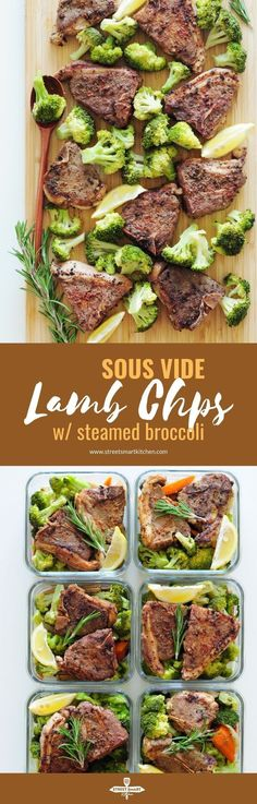 Sous Vide Lamb Chops with Steamed Broccoli Sous Vide Lamb Chops with Steamed Broccoli StreetSmart Kitchen Meals How To s Sous Vide streetsmartkitchen StreetSmart nbsp hellip Broccoli meals Lamb Recipes, Meat Recipes, Dinner Recipes, Sweets Recipes, Cooker Recipes, Seafood Recipes, Holiday Recipes, Desserts, Sous Vide Lamb Chops