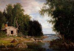 Magnus von Wright,   Rantamaisema, aihe Lehtisaaresta, 1867