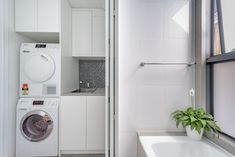Erskineville - PIN POINT CONSTRUCTION Open Plan Bathrooms, Laundry Cupboard, Compact Laundry, Granny Flat, Open Plan Living, Stacked Washer Dryer, New Construction, Terrace, Home Appliances