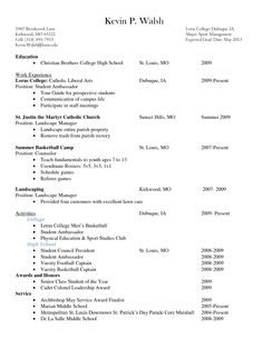 Resume Samples For High School Students College Resume Example For High School Seniors Sample Resumes