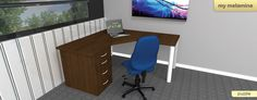 Corner desk provides more space in a room. Great for small rooms. www.myofficefurniture.co.za