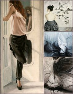 Paintings by Czech artist Doris Tesárková Oplová