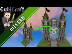 (1538) How to build Medieval Rustic City Gate Minecraft Tutorial - YouTube