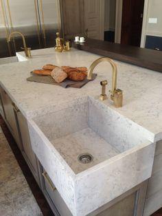Quartz....love the corner sink