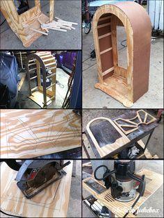 TheFeboJukebox - Custom Wurlitzer / Rock-Ola style Jukebox Project Jukebox, Woodworking Shop, Woodworking Projects, Borne Arcade, Box Building, Diy Speakers, Vintage Fans, Speaker Design, Birthday Photos