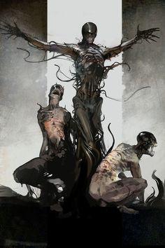 Monster Concept Art, Fantasy Monster, Monster Art, Monsters Rpg, Horror Monsters, Dark Creatures, Fantasy Creatures, Creature Concept Art, Creature Design