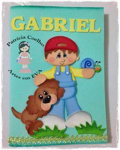 Capa em eva para caderneta de vacinação. Se houver interesse, passe o nome da criança.
