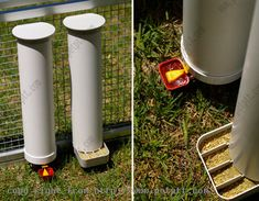 Chicken Feeder, this is the first water food set up that I've seen that I'd actually consider building. Love it!