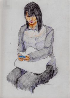 A woman I saw in the commuter train.