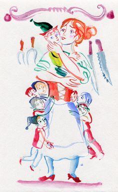 """иллюстрации, которые не вошли в """"Счастливый конец"""", а так же рабочие наброски"""