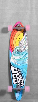 """San Clemente 38"""" Stained Glass III Longboard Complete"""