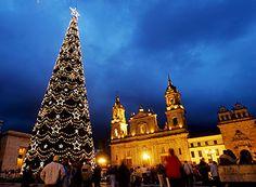 Plaza de Bolivar en Navidad
