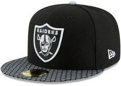 New Era Boys  Oakland Raiders Sideline 59FIFTY Fitted Cap Бейсболка 84f0bc632938