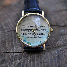Travel gift Quote Watch Book Inspirational World map Watch Travel jewelry Wander. Travel gift Quote Watch Book Inspirational World map Watch Travel jewelry Wanderlust Mens jewelry Travel watch Graduation gift Birthday gift Unique Gifts For Boyfriend, Unique Gifts For Sister, Unique Gifts For Women, Birthday Gifts For Sister, Trendy Watches, Cool Watches, Watches For Men, Women's Watches, Analog Watches