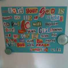 Have kids clip letters from magazines and use to make memory verse charts.