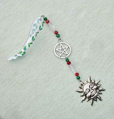 Beaded Pentagram Icicle Ornament or Sun Catcher