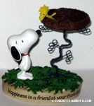 Snoopy with Woodstock in Nest Figurine