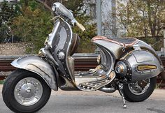 The Guardian, custom steampunk Vespa was designed by Greek sculptor Cris Cofitis of Pulsar Projects