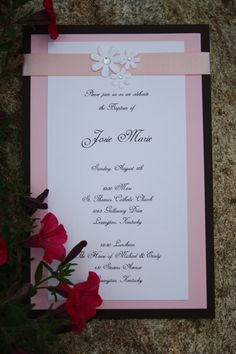 homemade invitations-baptism2 - could make them for a wedding