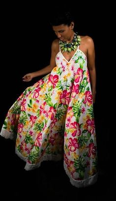 Fashion Wear, Fashion Outfits, Island Wear, Royal Beauty, Tropical Dress, Different Dresses, African Dress, Floral Maxi Dress, Jumpsuits For Women