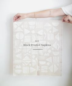 diy block printed napkins - a really great hostess gift idea