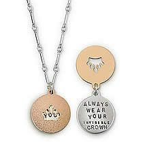 Always Wear Your invisible crown, Inspirational Jewelry $74