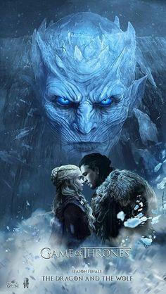 Game Of Thrones fan art- The Dragon And The Wolf Jon Snow Daenerys Targaryen Jonerys Dessin Game Of Thrones, Game Of Thrones Saison, Game Of Thrones Artwork, Game Of Thrones Poster, Game Of Thrones Dragons, Game Of Thrones Fans, Jon E Daenerys, Daenerys Targaryen, Khaleesi