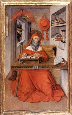 ANTONIO DA FABRIANO St Jerome in His Study 1451 Tempera on wood, 88 x 52 cm Walters Art Museum, Baltimore
