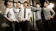 BIGBANG || SeungRi, Taeyang, DaeSung, G-Dragon, T.O.P. (left to right)