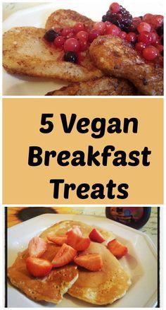 Vegan breakfasts don't have to be boring. Check out these 5 vegan brakfast treats including vegan pancakes, churros and vegan french toast. Egg Free Recipes, Vegan Recipes, Vegan Meals, Vegan Desserts, Crepe Vegan, Vegan Keto Diet, Vegetarian Keto, Vegan Food, Vegan Fudge