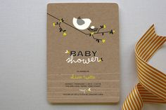 Nesting Bird Baby Shower Invitations